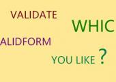 validate和validform,你喜欢哪个?
