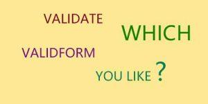 validate、validform